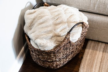 blanket in a basket