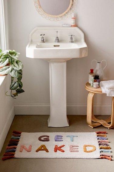 bathroom vanity accent rug