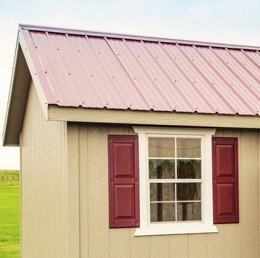 Metal shed roof.