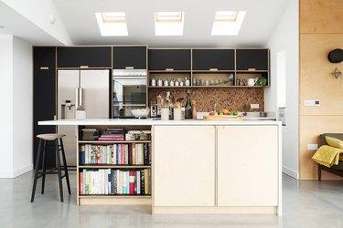 custom door fronts on Ikea cabinets budget kitchen idea