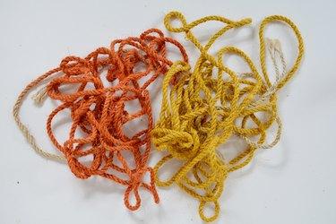 Orange and yellow sisal rope