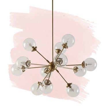 gold 12-ligh sphere chandelier