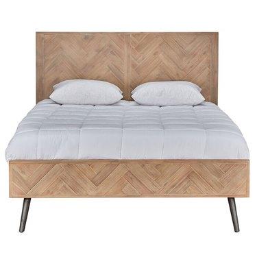 herringbone pattern platform bed