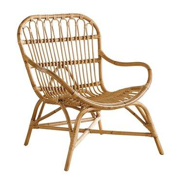 honey rattan armchair