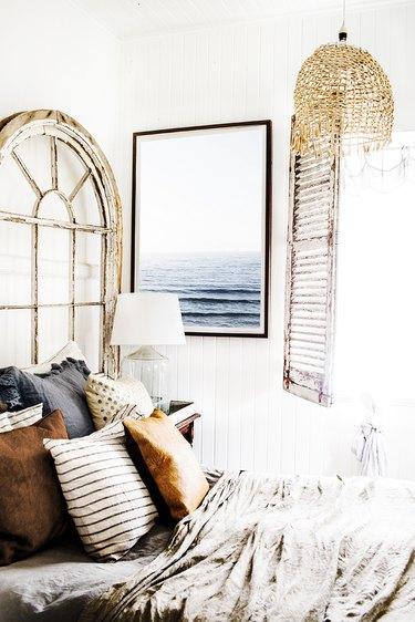rustic bedroom with textures