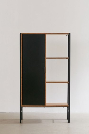 black and brown storage unit