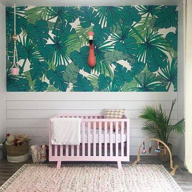 green tropical wallpaper