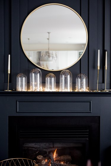 Glass cloche and light display