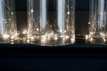 Mini lights inside cloches