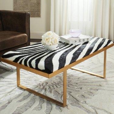 zebra print coffee table