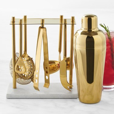 Gold Bar Tools Set with Cocktail Shaker