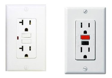 A pair of GFCI outlets.