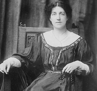 black and white photograph of May Morris