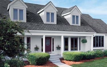 House with asphalt shingles