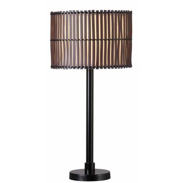 bronze finish outdoor table lamp