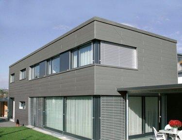 Modern house with aluminum siding