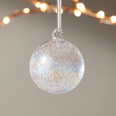 CB2 Kaleidoscopic Glitter Ornament, $3.95