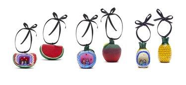St. Frank Nativity Fruit Ornament Set, $75