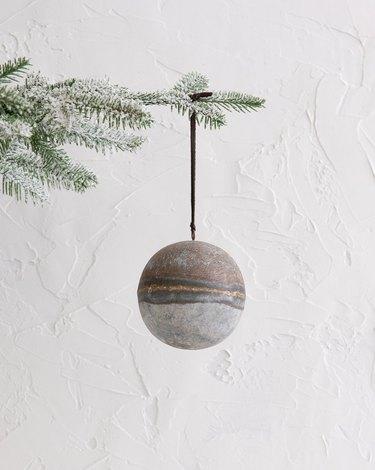 McGee & Co. Antique Zinc Ornament, $12