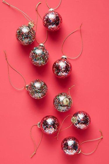 Anthropologie Confetti Ornaments (set of 9), $20
