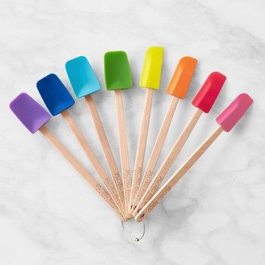 rainbow mini spatula set