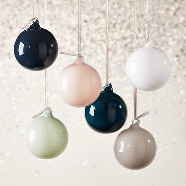 CB2 Opaque Ornament Set, $19.95
