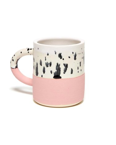 mug with pink bottom