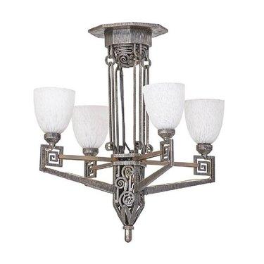 art deco style chandelier