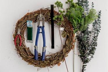 DIY Faux Evergreen Scandinavian-Inspired Christmas Wreath