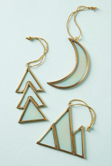 Anthropologie Iridescent Geometry Ornament