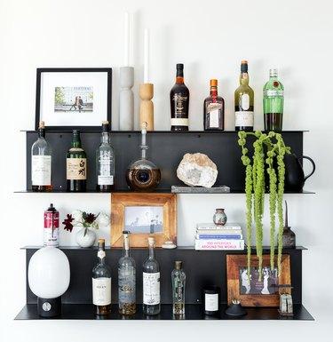 bar shelf idea