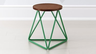 green wire frame stool for kids