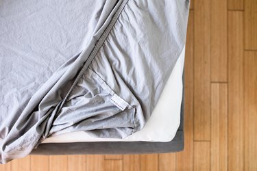 Bed sheet on bed