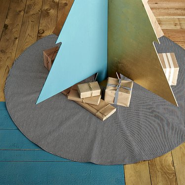 Studio Stockholm Hickory Stripe Tree Skirt, $175
