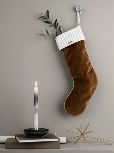 Ferm Living Velvet Stocking, $79