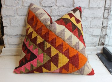 PacificKilimRug Wool Pillow, $36
