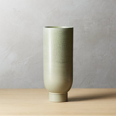 light green ceramic vase