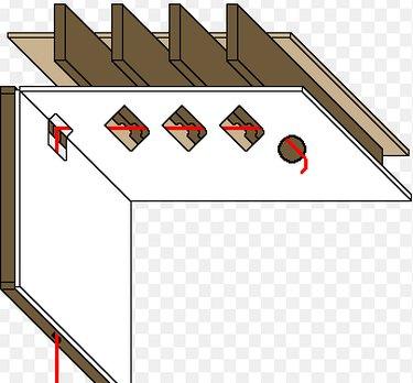 Wiring trough in ceiling.
