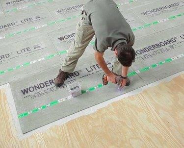 Wonderboard being installed.