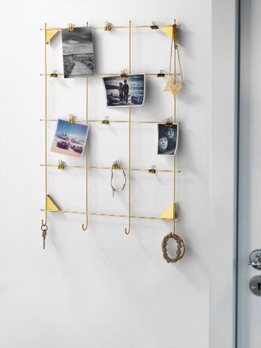 Brass frame hanger from Ikea