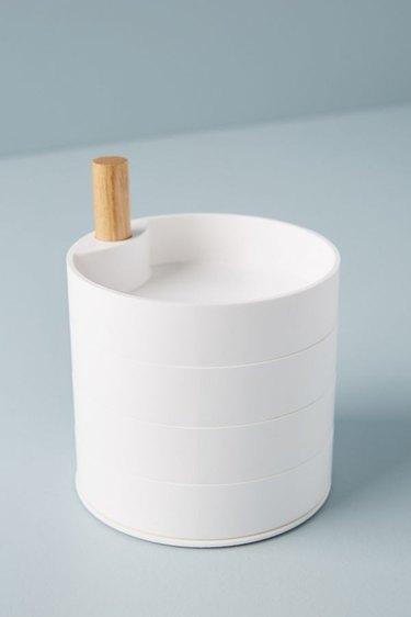 white minimal jewelry storage