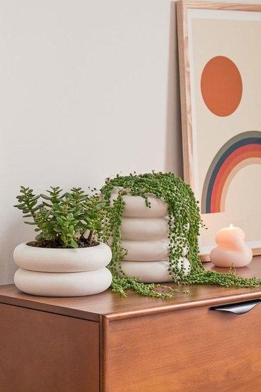 stackable ceramic planter