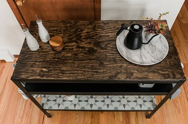 A washable tray will help keep your newly refinished work bench looking great for years to come.