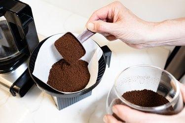 Coffee grinds and coffee machine