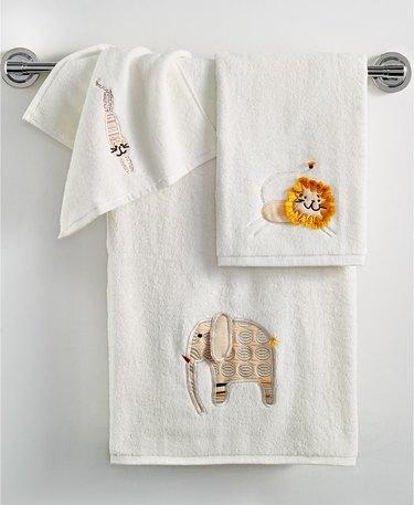 animal bath towels