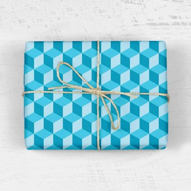 hexagon print wrapping paper
