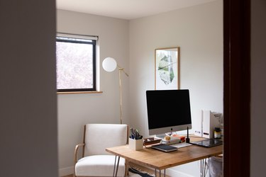 Home office with minimal decor