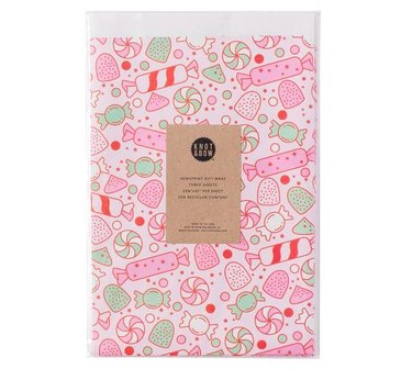 Knot & Bow Holiday Sweets Gift Wrap (3 sheets), $6
