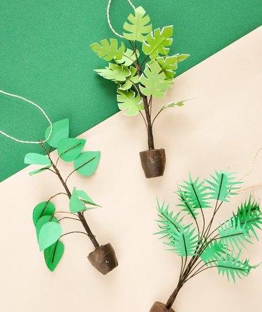 leif shop paper plant ornaments