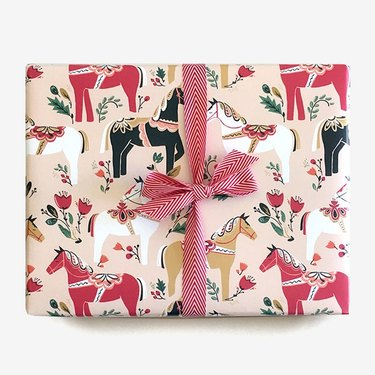 The Paper Pony Co Dala Horse Gift Wrap (3 sheets), $11